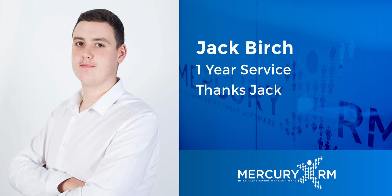 Jack Birch 1 Year Service