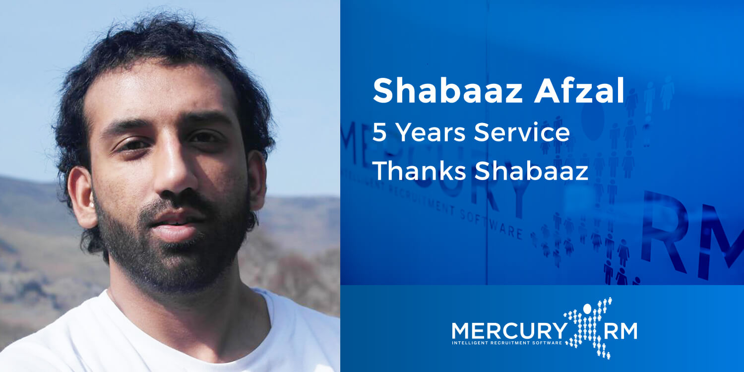 Shabaaz Afzal 5 Years Service Banner